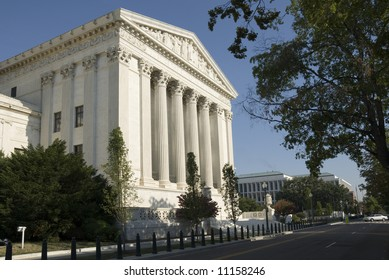 The eastern facade of the US Supreme Court in Washington, DC.