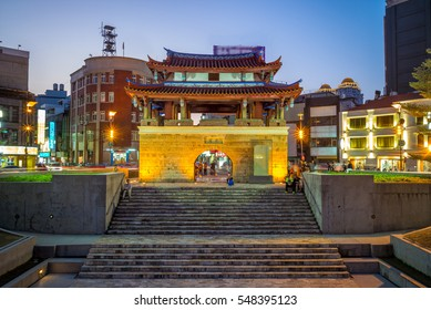 The Eastern Gate of Hsinchu city at night