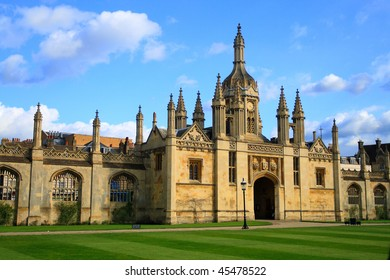 Eastern gate to King's College of Cambridge University