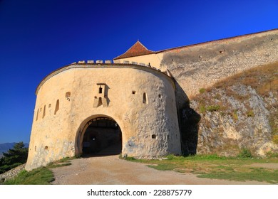 Eastern gate to the medieval fortress in Rasnov, Transylvania, Romania