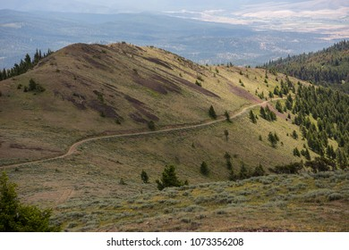Eastern part of John Day Valley from Dixie Peak, Oregon, USA
