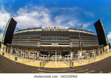EASTERN RUTHFORD, NEW JERSEY - JUNE 2019: MatLife Stadium which will host the 2026 World Cup games.
