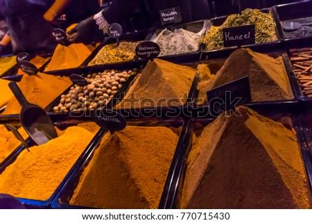 Eastern Spices Seasoning Market Western Europe Stock Photo (Edit Now