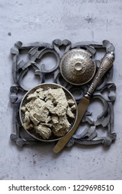Eastern sweets - halva on a silver plate