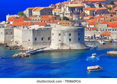 Eastern walls of the old town of Dubrovnik, Croatia