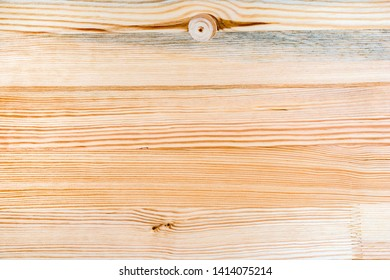 Eastern white pine wooden plank board texture as background, top view