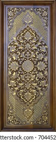 Eastern wooden carvings with beautiful patterns.Eastern doors.