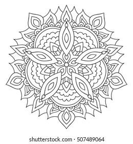 Eastern yoga ornament. Ethnic isolated mandala