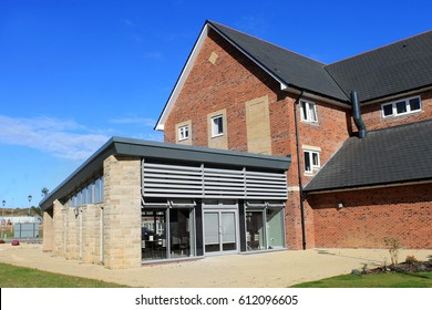 EASTFIELD, SCARBOROUGH, NORTH YORKSHIRE, ENGLAND - 10th of October 2016: Exterior of a retirement home in Scarborough on 10th October 2016.
