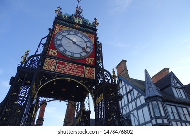 Eastgate Clock in Chester, Cheshire, England, UK