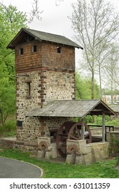 Easton Tower (Red Mill) in Paramus, Bergen County, New Jersey on April 30, 2017.