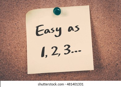 Easy as 1, 2, 3...