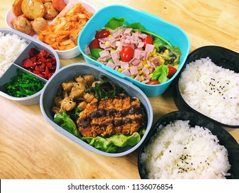 Easy bento box lunch idea for work and school.