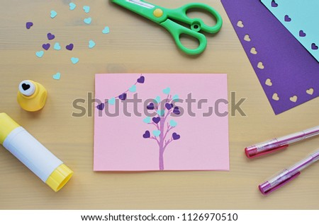 Easy Crafts Kids Hand Made Greetings Stock Photo Edit Now