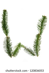 A - easy natural christmas alphabet from xmas tree