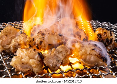 Eat hormone grilled at a barbecue