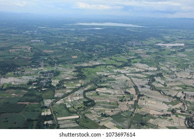 the eath view from the air plane