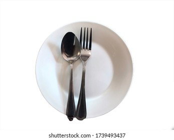 Eating concept on white background with clipping path.