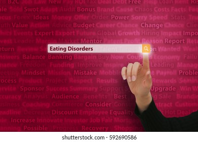 Eating Disorders - Internet Data Technology Concept