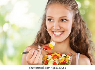 Eating, Women, Healthy Eating.