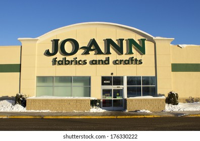 EAU CLAIRE,WISCONSIN-FEBRUARY 02,2014: Jo Ann Fabrics and Crafts storefront in a shopping mall on February 02,2014 in Eau Claire,Wisconsin.