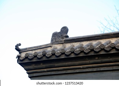 The eaves of ancient Chinese Temples