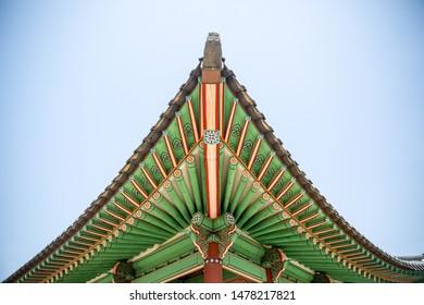 eaves of korean traditional house Hanok