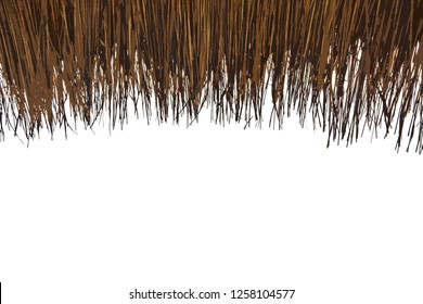 Eaves of straw hut pattern on white background, Input text for your slide presentation design - Image