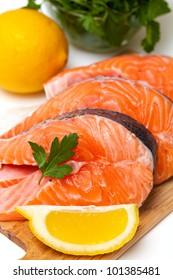 eaw salmon steak