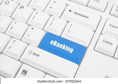 eBanking button on keyboard