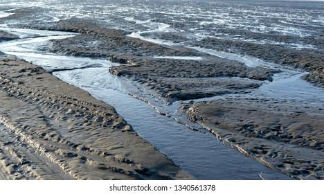 ebb tide in the north sea