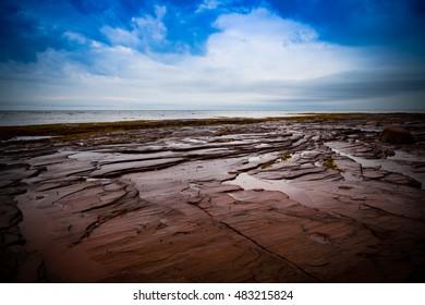 Ebb Tide At Point Prim, Prince Edward Island Atlantic Ocean