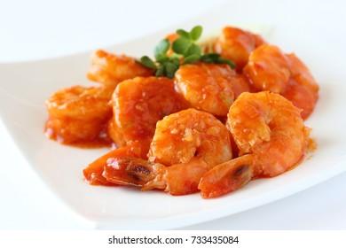 Ebi chili,stir-fried shrimp in chili sauce