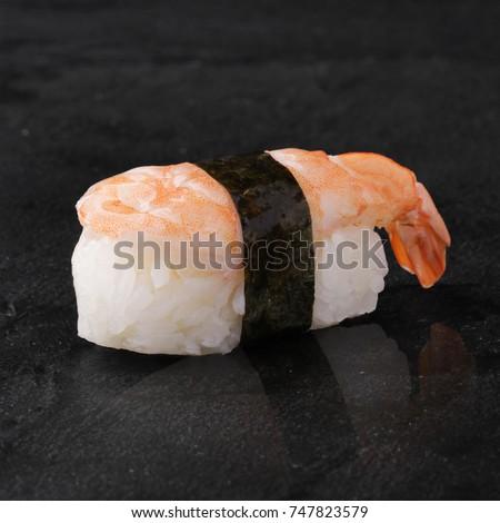 Ebi Sushi Japanese Shrimp On Japanese Stock Photo Edit Now