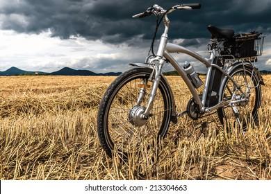 e-bike before storm