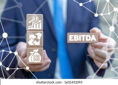 EBITDA - Earnings Before Interest Taxes Depreciation Amortization Business concept.
