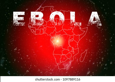 Ebola in Africa infographic