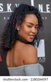 """Ebonique Wool attends  Skyline Entertainment's  """"The ToyBox"""" Los Angeles  Premiere at Laemmle's NoHo 7, North Hollywood, California on September 14th, 2018"""