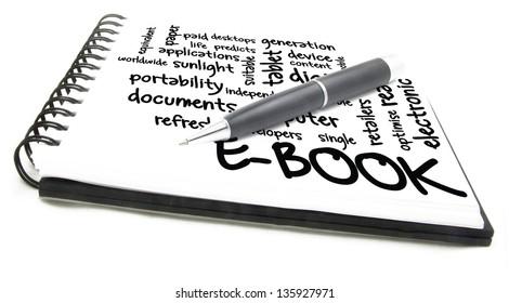 e-book concept in notebook