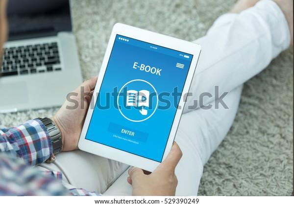 画面上の電子書籍のコンセプト