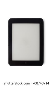 ebook device with blank screen, isolated on white. The e-book device is a dedicated device for reading e-books.