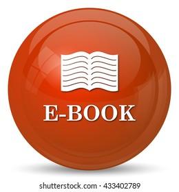 E-book icon. Internet button on white background.