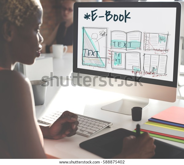 Ebook Layout Design Draft Graphic Stock Photo (Edit Now