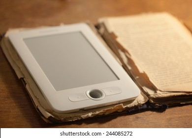 Ebook and old book together