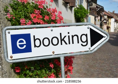 E-booking road sign