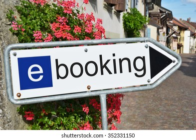 E-Booking street sign