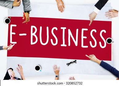 E-business Online Digital Marketing Commercial Concept