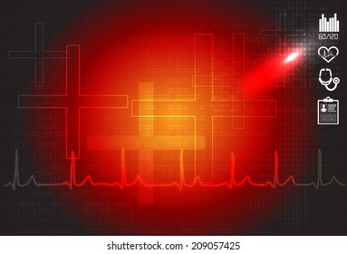 ECG Abstract Background - Illustration