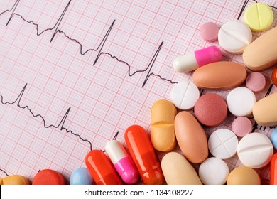 ECG and various types of pills