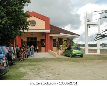 Echang, Palau - July 1, 2018. Preparations before wedding ceremony.